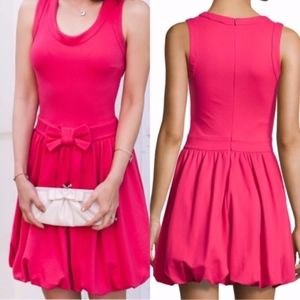 RED VALENTINO DRESS CANDY PINK BOW BUBBLE HEM 4